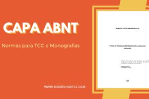 Capa ABNT para TCC e Monografias